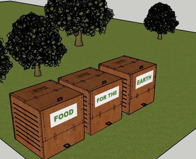 Unitate de compostare din lemn